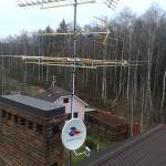 Установка комплекса из триколор и эфирной антенны