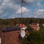 Установка эфирного комплекса из трех антенн